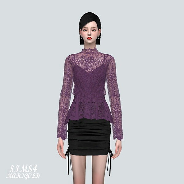 BT Lace Blouse V2 from SIMS4 Marigold