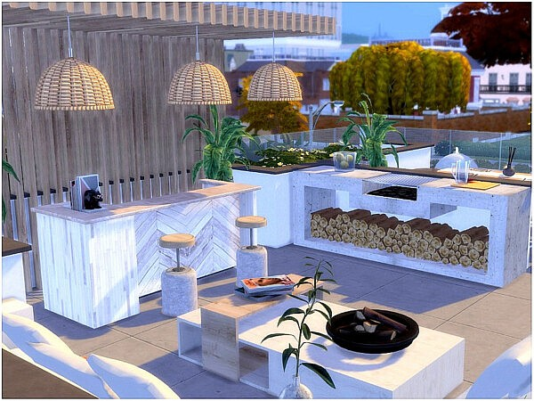 Modern Roof  Livingroom by lotsbymanal from TSR