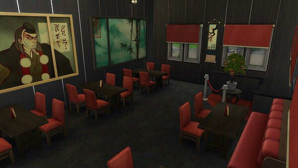 Dragon Kitchen Restaurant NoCC by  Guitou from Luniversims