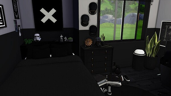 Black Room from Models Sims 4