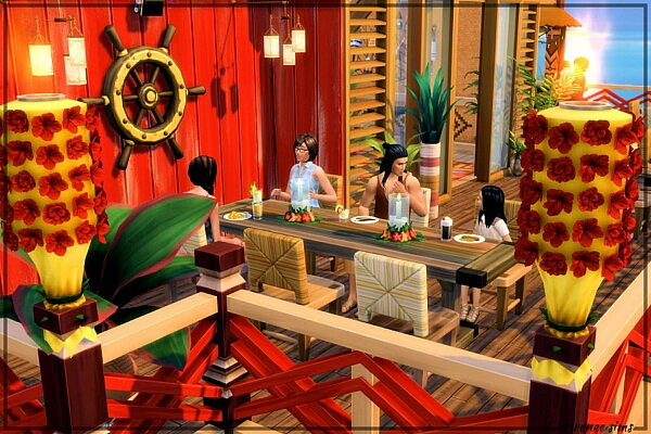 The Angry Anchovy Restaurant from Strenee sims