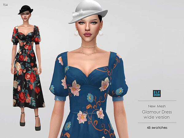 Glamour Dress Wide from Elfdor