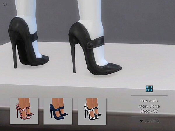 Mary Jane Shoes Set from Elfdor