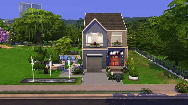 Red Blue House from Sims Artists