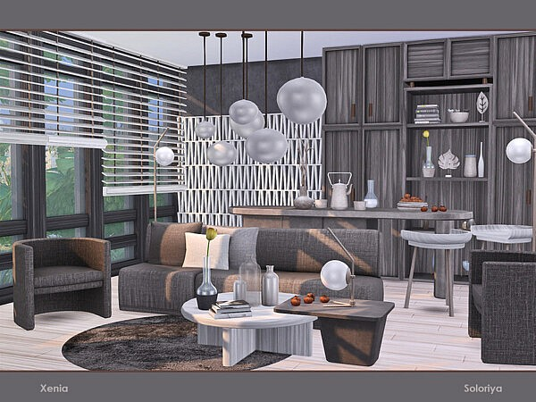 Xenia Living Room by soloriya from TSR