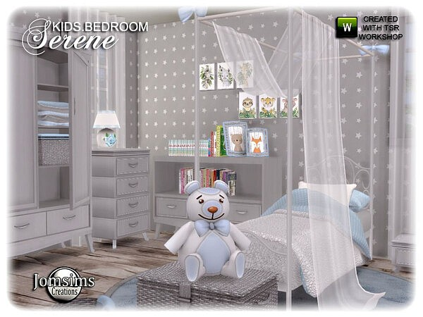 Serene kids bedroom by jomsims from TSR