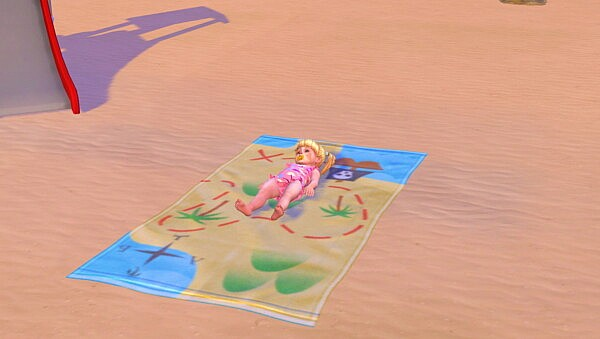 Toddlers can use Beach Towels by Sofmc9 from Mod The Sims
