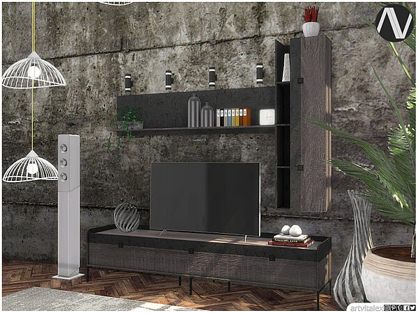 Florence Living Room TV Units by ArtVitalex from TSR