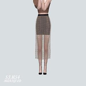 Accordion Long Skirt