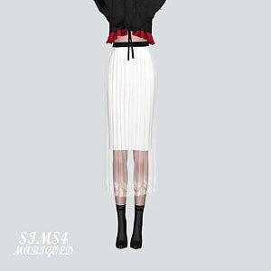 Accordion Long Skirt1