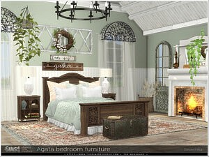 Agata bedroom furniture sims 4 cc