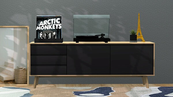 Altius TV Unit sims 4 cc