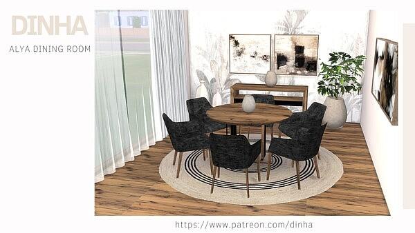Alya diningroom sims 4 cc