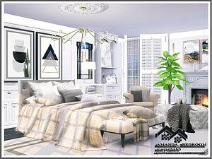 Amanda Bedroom Sims 4 CC