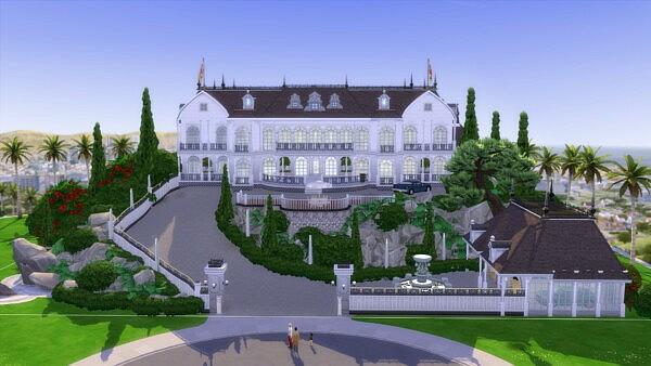 Amazing huge Millionaire Mansion Sims 4 CC