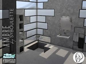 Ambre bathroom set by Syboubou
