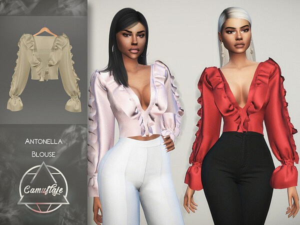 Antonella Blouse by Camuflaje from TSR