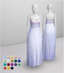 At Night Dress Sims 4 CC