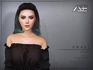 Awake Style 4 Hairstyle sims 4 cc