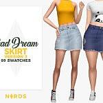 Bad Dream Skirt V2 sims 4 cc