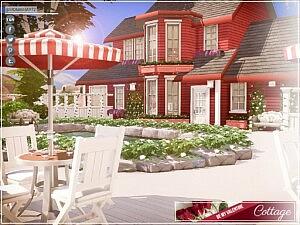 Be My Valentine Cottage Sims 4 CC