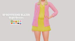 Bustedpixel`s Boyfriend blazer outfit recolor