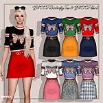 Burterfly Top and Skirt