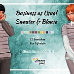 Business As Usual Sweater and Blouse