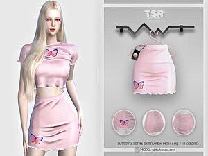 Butterfly Skirt Sims 4 CC