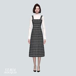 CB Lace Blouse Long Dress