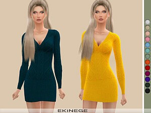 Cable Knit Dress Sims 4 CC