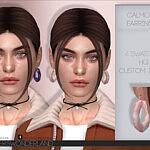 Calmone Earrings Sims 4 CC