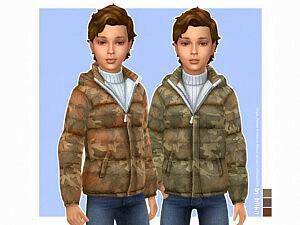 Camo Jacket Boys Sims 4 CC
