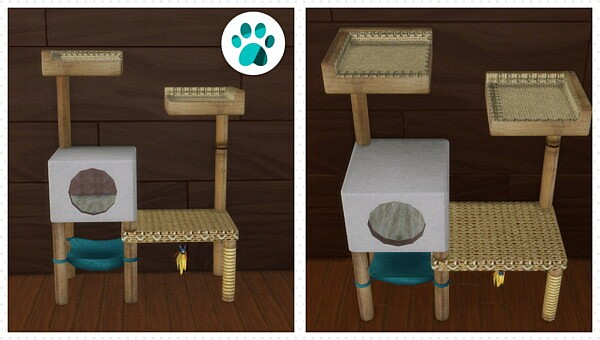 Castaway Cat Tree by BlueHorse from Mod The Sims