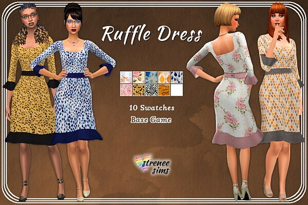 Casual Ruffle Dress from Strenee sims