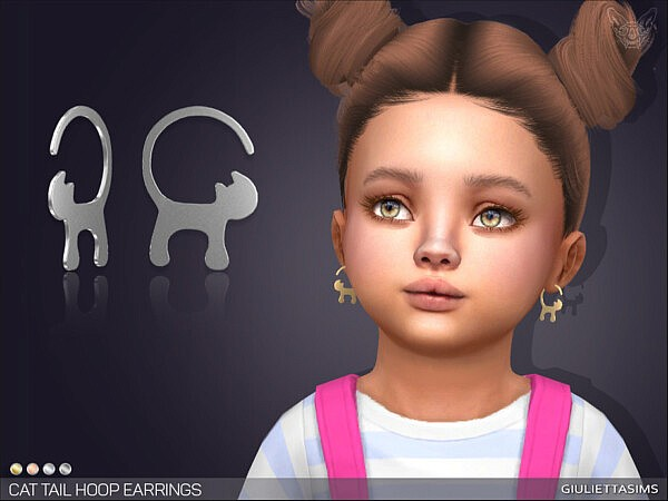 Cat Tail Hoop Earrings T by feyona