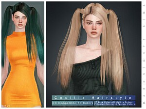 Cecilia Hair Sims 4 CC