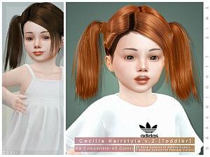 Cecilia Hairstyle V2 sims 4cc