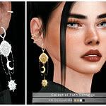 Celestial Path Earrings sims 4 cc