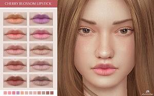 Cherry Blossom Lipstick Sims 4 CC