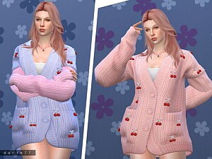 Cherry Knit Sweater by Darte77