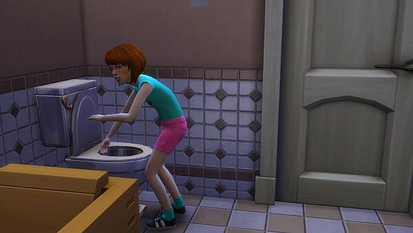 Child splash in Toilets Sims 4 Mods