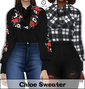 Chloe Sweater sims 4 cc