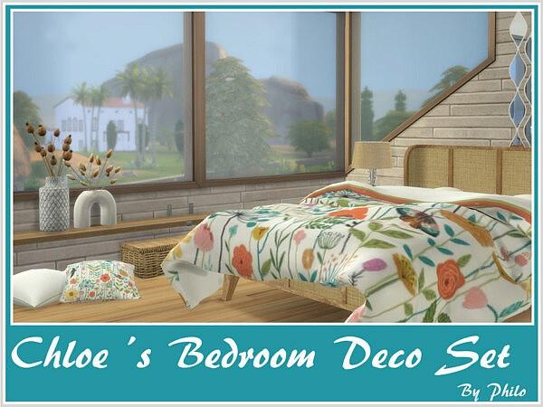 Chloes Bedroom Deco Set sims 4 cc