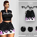 Clothes Set 115 Skirt Sims 4 cc