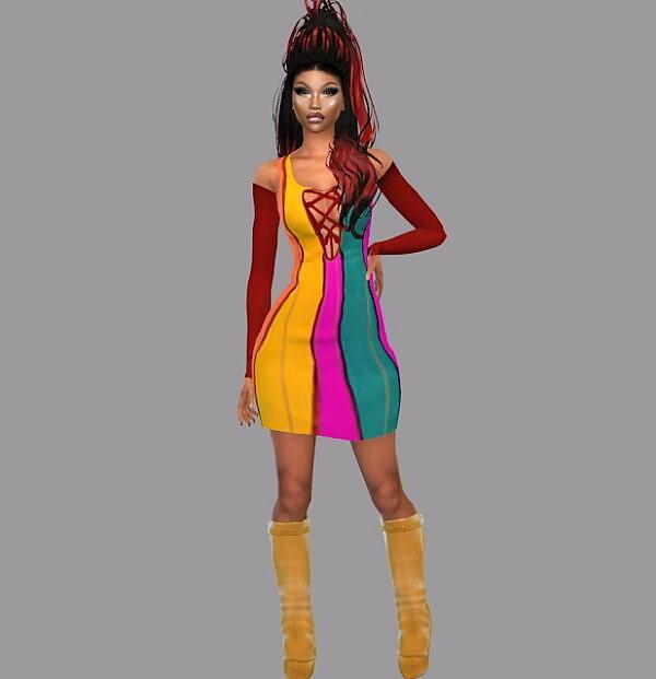 Color Blocker Dress