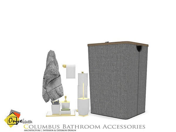 Columbus Bathroom Accessories by Onyxium from TSR