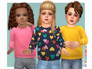 Cozy Sweater for Toddler sims 4 cc