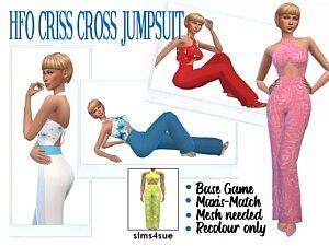 Criss Cross Jumpsuit sims 4 cc