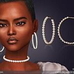 Crystal Hoop Earrings sims 4 cc